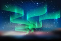 Dageraad blauwe hemel en heel wat ster in vorm van melkachtige manier, astronomieachtergrond, Vectorillustratie vector illustratie