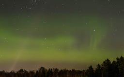 Dageraad Borealis, Noordelijke Lichten stock afbeeldingen