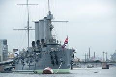 Dageraad een Russisch Museumschip Stock Afbeeldingen