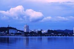 Dageraad van tijd de kust in Thailand, royalty-vrije stock afbeeldingen