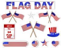 dagflaggaetiketter Fotografering för Bildbyråer