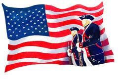 dagflaggasjälvständighet royaltyfri fotografi