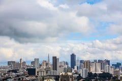 Dagfoto av delen av den San Fransisco horisonten Arkivfoto