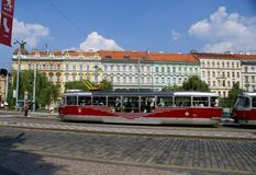 Daggata i Prague Arkivfoto