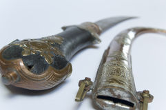 Dagger. Old dagger from south arabia stock photo