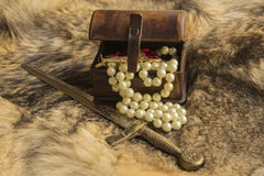 Dagger and casket Royalty Free Stock Images