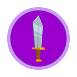 Dagger. Cold weapon. The medieval sword. Vector illustration Royalty Free Stock Photography