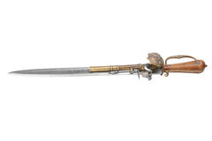 Dagger that has a pistol mounted on blade Stock Images