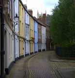 Dagger Lane Cobbled Street Photos libres de droits