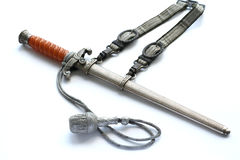 Dagger in the sheath. Officer dagger in the sheath on white background Royalty Free Stock Images