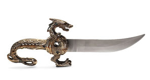Dagger on white Royalty Free Stock Photography