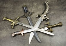 Daggers and knives Royalty Free Stock Images