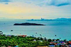 Daggryningservice Ko Lan Pattaya Fotografering för Bildbyråer
