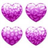 daghjärtakryp ställde in valentiner Arkivfoton