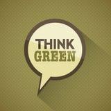 dagjordgreen tänker Royaltyfri Foto