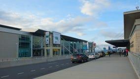 Daglig aktivitet i den Mariscal Sucre internationella flygplatsen av staden av Quito Arkivbild