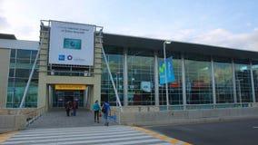 Daglig aktivitet i den Mariscal Sucre internationella flygplatsen av staden av Quito Arkivfoto