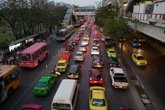 Daglig trafikstockning Arkivfoton