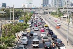 Daglig trafikstockning Arkivfoto