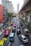 Daglig trafikstockning i Bangkok Royaltyfria Bilder