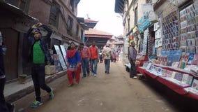 Dagligt liv i Katmandu, Nepal arkivfilmer
