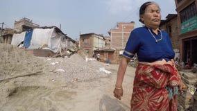 Dagligt liv i Katmandu, Nepal lager videofilmer