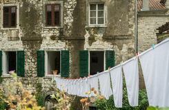 Dagligt liv i Kotor, Montenegro Royaltyfri Foto