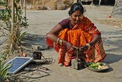 Dagligt liv med sol- energi Arkivfoto