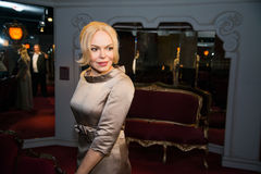 Dagmar Havlova in Grevin museum of the wax figures in Prague. Royalty Free Stock Images