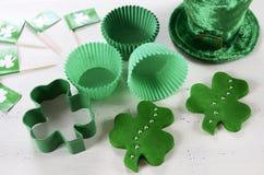 Dagmatlagning för St Patricks och stekhett begrepp Royaltyfri Bild