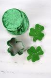 Dagmatlagning för St Patricks och stekhett begrepp Arkivfoton