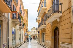 Dagmening van de stad in in Marsala, Italië Royalty-vrije Stock Foto's