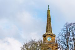 Dagmening van Heilige Dwarskerk in Daventry-stadscentrum Royalty-vrije Stock Fotografie
