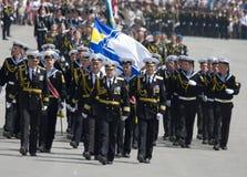 dagmilitären ståtar seger Royaltyfri Foto