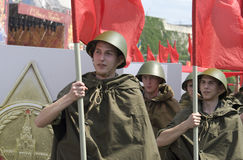 dagmilitären ståtar seger Royaltyfri Fotografi