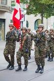 dagnationalen ståtar schweiziska zurich Arkivfoton