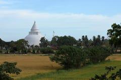 Dagoba di Tissamaharama nello Sri Lanka immagini stock