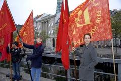 DAGPENGEFORALLE_PROTEST POUR LA RÉFORME Image stock