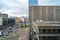 Dagsikt av centret i Lyon, Frankrike Fotografering för Bildbyråer