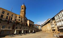 Dagsikt av den historiska delen av Vitoria-Gasteiz Fotografering för Bildbyråer