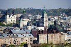 Dagsikt av den Lvov staden royaltyfri foto