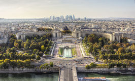 Dagsikt av Paris från Eiffeltorn Arkivbilder