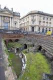 Dagsikt av Roman Amphitheater av Catania royaltyfri foto