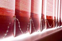 dagsljusnederlagjalousien sections vertical Arkivbild