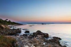 Dagstijging aan St Tropez, Frankrijk Stock Foto's