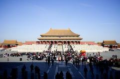 Dagtijd in de Verboden Stad, Peking China Royalty-vrije Stock Afbeeldingen