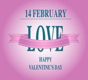 Dagtype van Valentine tekst kalligrafisch Valentine Royalty-vrije Stock Fotografie