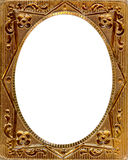 Daguerreotype frame with Clipping Path. Ornate gold metal picture frame from the 1850s. This type of frame was used to house early style photos such as royalty free stock image