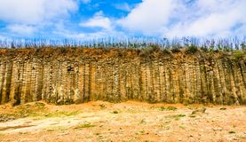 Daguoye Columnar basalt, Penghu Royaltyfria Foton