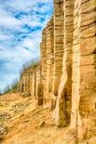 Daguoye Columnar Basalt, Penghu royalty free stock photos